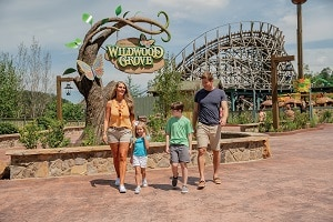 Family at Dollywood's Wildwood Grove