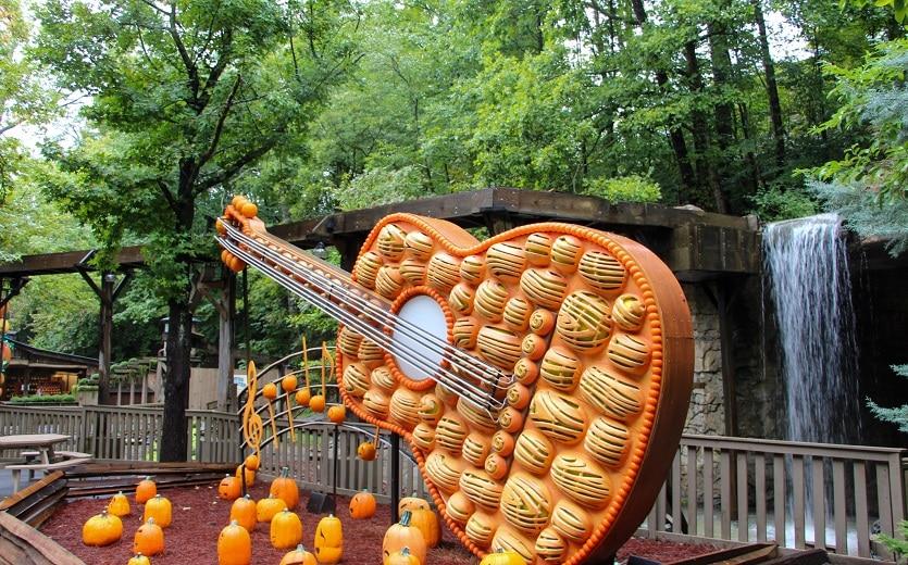 Guitar Display at Dollywood Harvest Festival