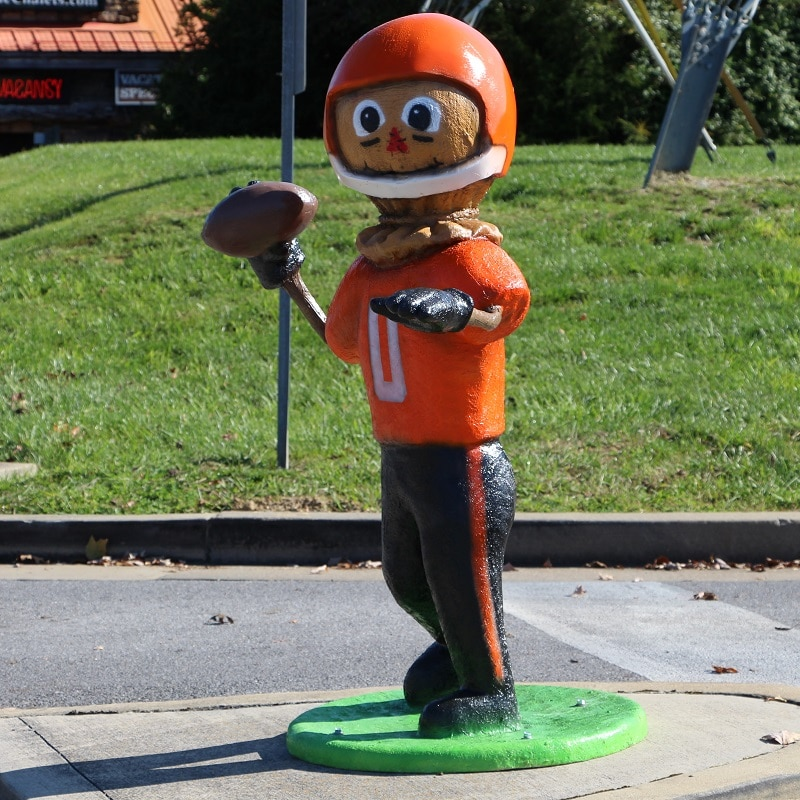 Football Player Scarecrow