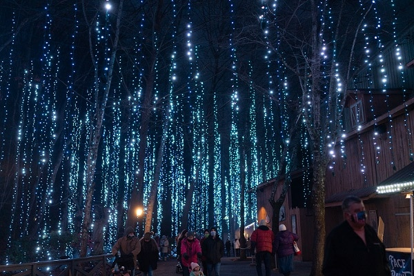 Enjoy millions of dazzling lights at Dollywood's Smoky Mountain Christmas
