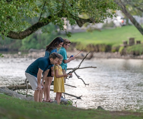 Family Fishing on Little Pigeon River