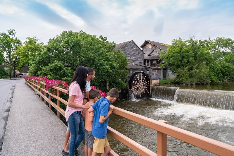 Family Exploring What's New in Pigeon Forge