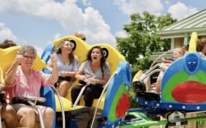 Spinning Parrots Coaster at The Island in Pigeon Forge