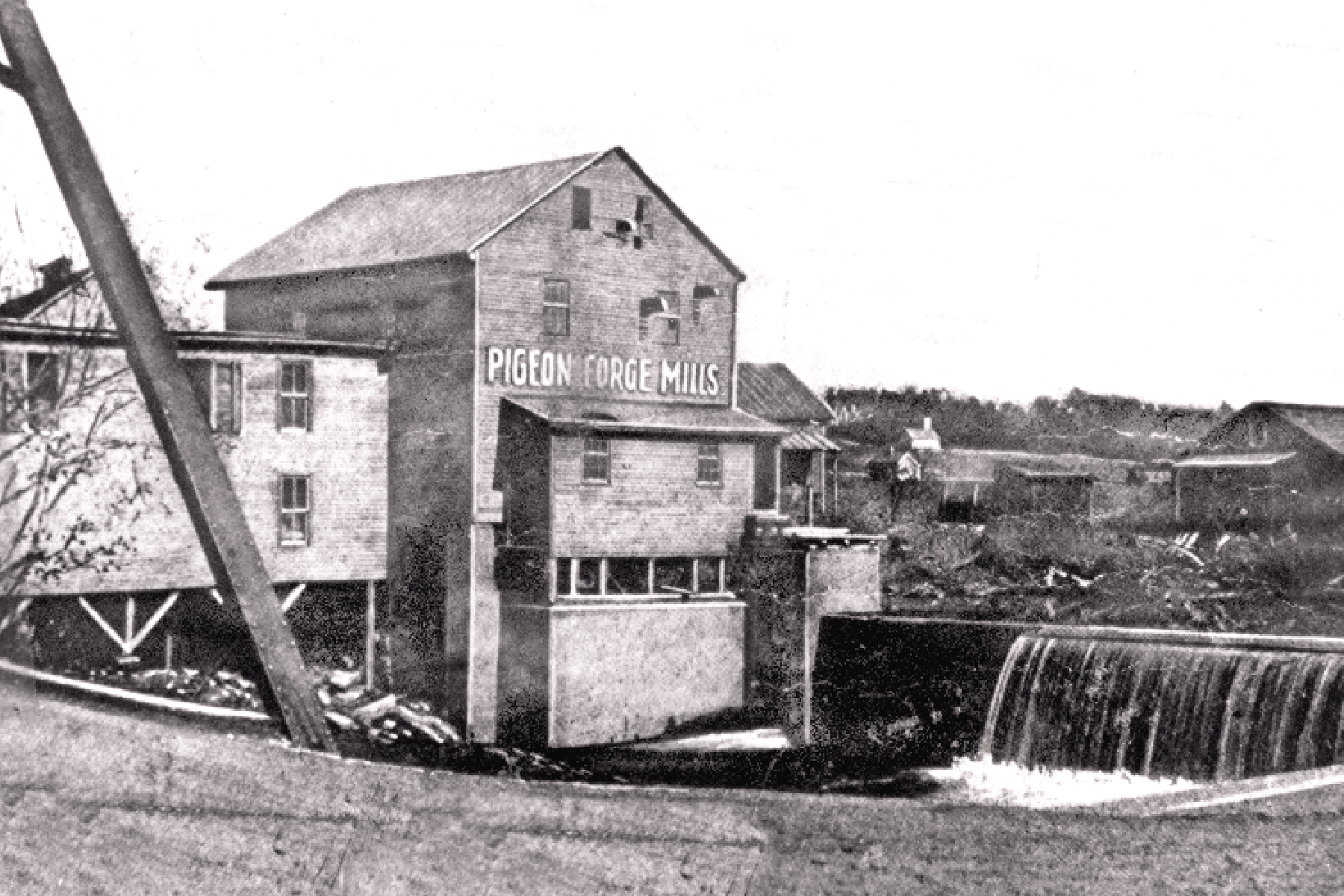 Old Mill historic shot in Pigeon Forge, Tennessee.