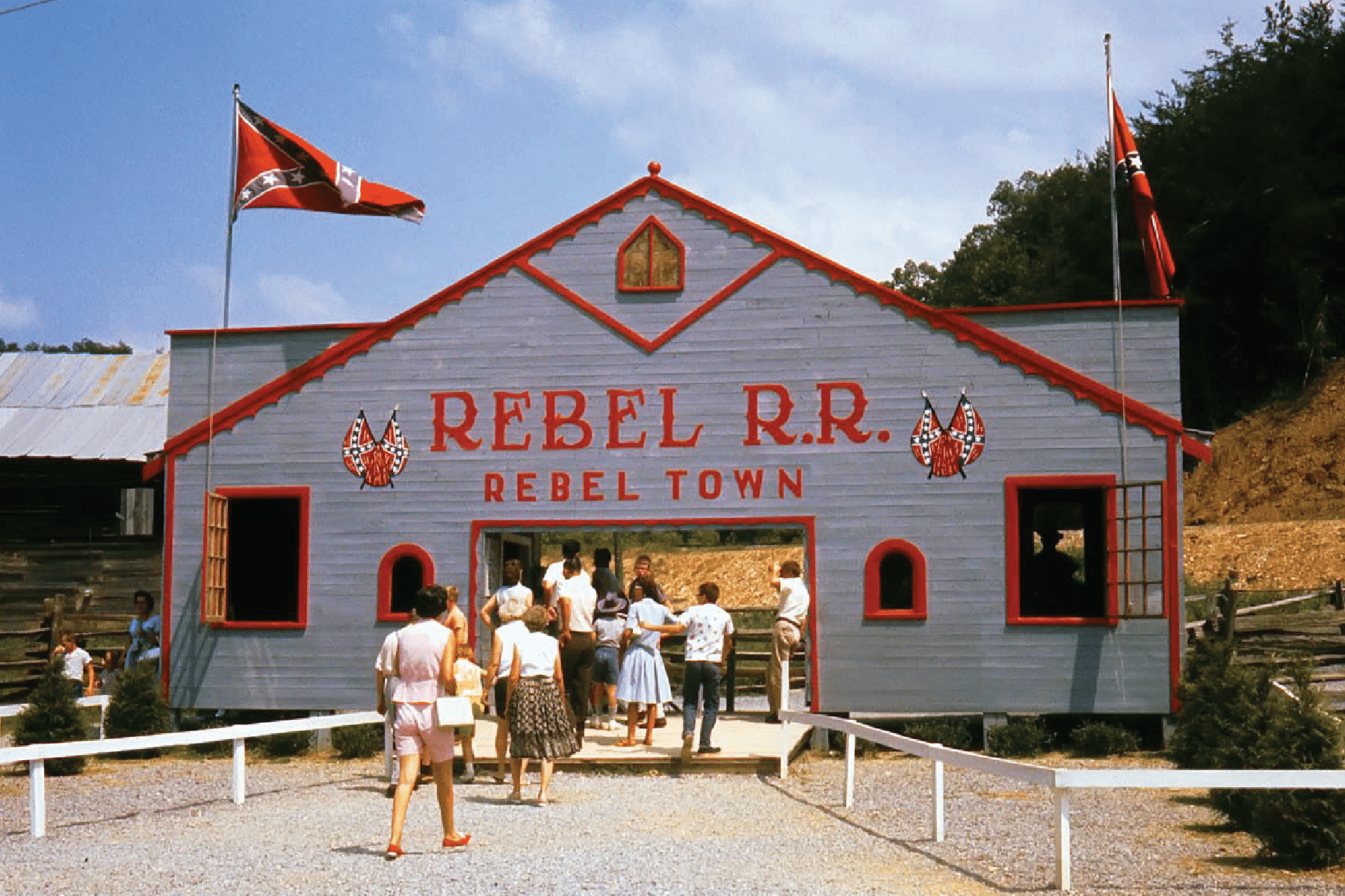 Rebel Railroad in Rebel Town historic photo in Pigeon Forge.