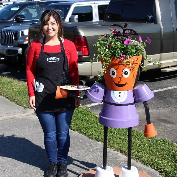 """""""Serving up Spring"""" Planter Person"""