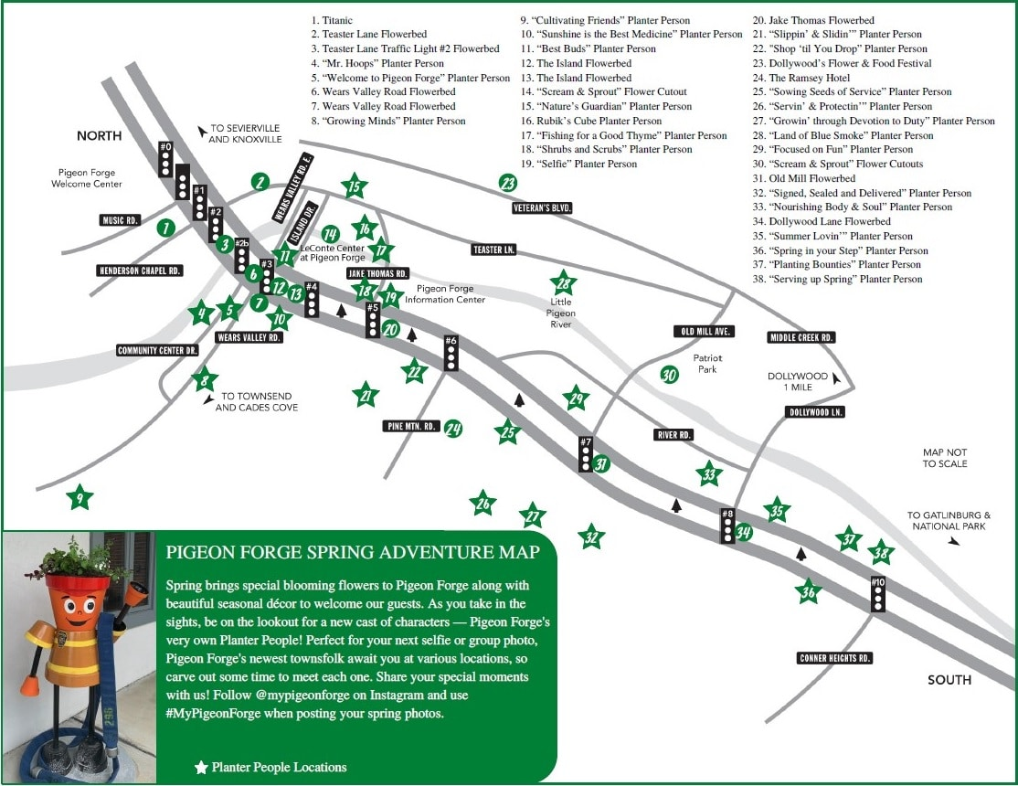 Pigeon Forge Spring Adventure Map
