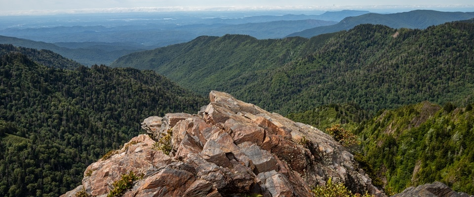View from Charlies Bunion Trail - Great Smoky Mountains National Park