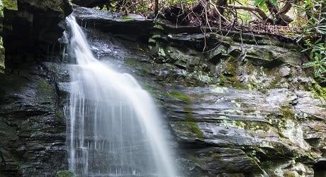 Baskins Creek Falls in GSMNP