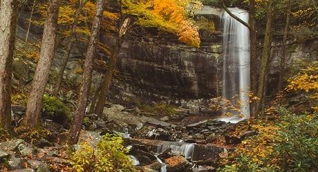 Rainbow Falls in the Fall