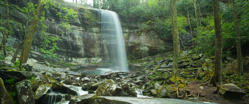 Hike Rainbow Falls - Waterfall Hikes in the Great Smoky Mountains