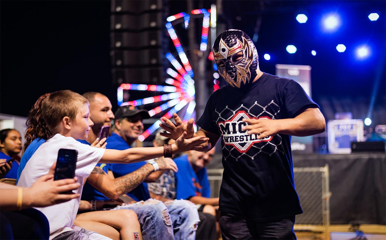 Torito at Micro Wrestling Federation at the Microtorium of Pigeon Forge